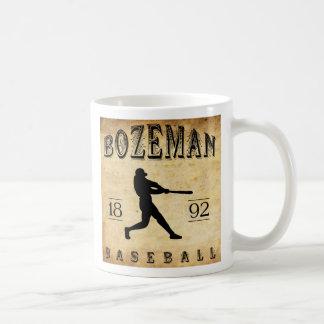 1892 Bozeman Montana Baseball Basic White Mug