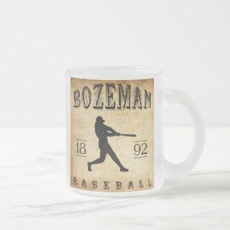 1892 Bozeman Montana Baseball Frosted Glass Mug