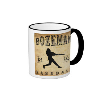 1892 Bozeman Montana Baseball Ringer Mug