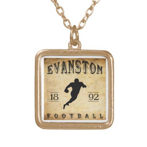 1892 Evanston Illinois Football Custom Necklace