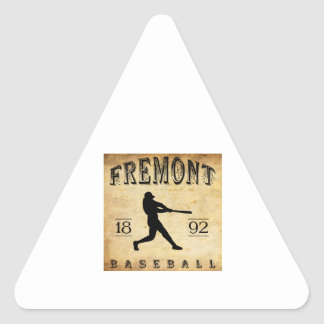 1892 Fremont Nebraska Baseball Triangle Sticker