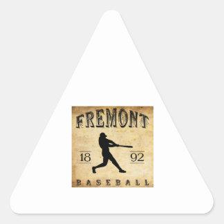 1892 Fremont Nebraska Baseball Triangle Stickers