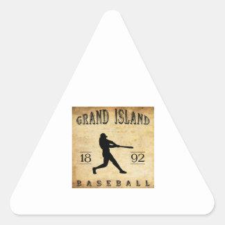 1892 Grand Island Nebraska Baseball Triangle Sticker
