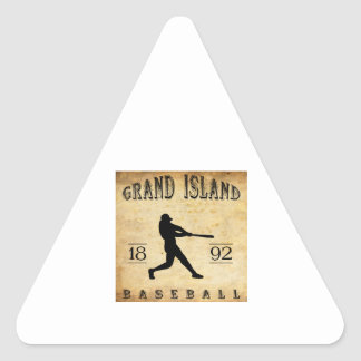 1892 Grand Island Nebraska Baseball Triangle Sticker