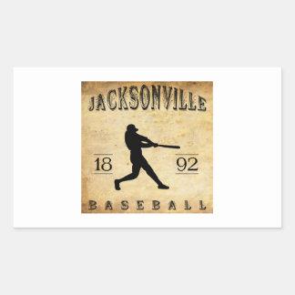 1892 Jacksonville Illinois Baseball Rectangular Sticker