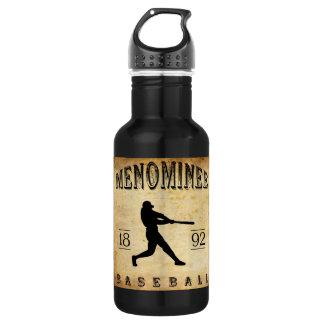 1892 Menominee Wisconsin Baseball 532 Ml Water Bottle