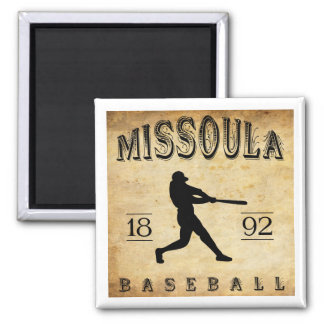 1892 Missoula Montana Baseball Magnet