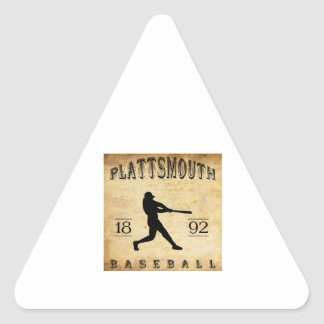 1892 Plattsmouth Nebraska Baseball Triangle Sticker
