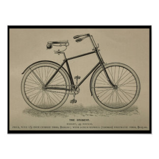 1892 Vintage Bicycle Magazine Ad Art Print