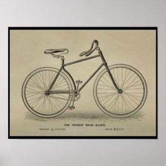 1892 Vintage Tourist Bicycle Magazine Ad Poster