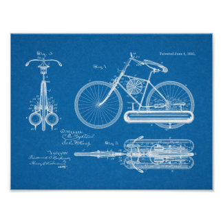 1893 Air Propelled Bicycle Design Patent Art Print