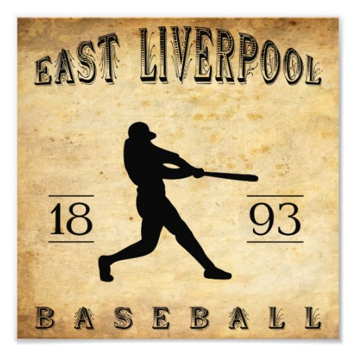 1893 East Liverpool Ohio Baseball Art Photo