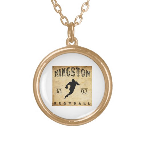 1893 Kingston Ontario Canada Football Personalized Necklace