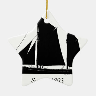 1893 sailing smack - tony fernandes christmas ornament