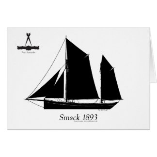 1893 sailing smack - tony fernandes greeting card