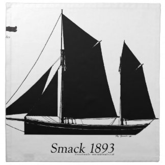 1893 sailing smack - tony fernandes napkin