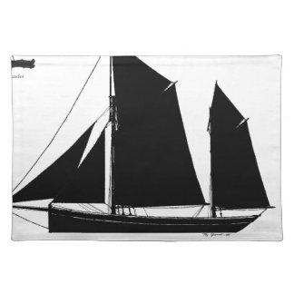 1893 sailing smack - tony fernandes placemat