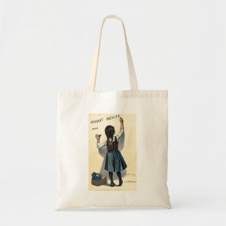 1893 Vintage French Chocolate Ad Poster Bag