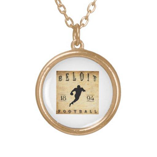 1894 Beloit Wisconsin Football Personalized Necklace