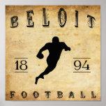 1894 Beloit Wisconsin Football Posters