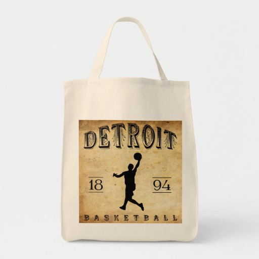 1894 Detroit Michigan Basketball Tote Bag