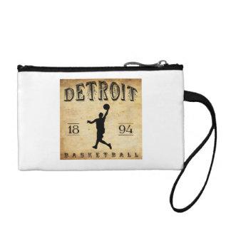 1894 Detroit Michigan Basketball Change Purse