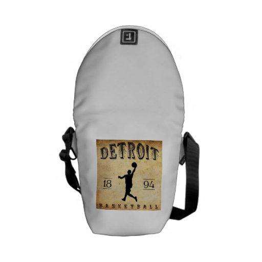 1894 Detroit Michigan Basketball Courier Bag
