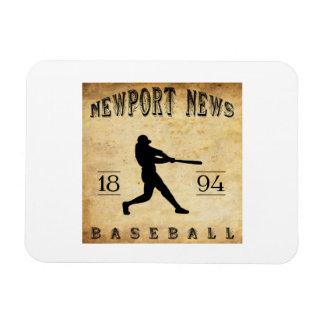1894 Newport News Virginia Baseball Rectangular Magnet