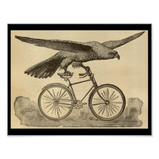 1894 Vintage Eagle Bicycle Magazine Ad Art Poster