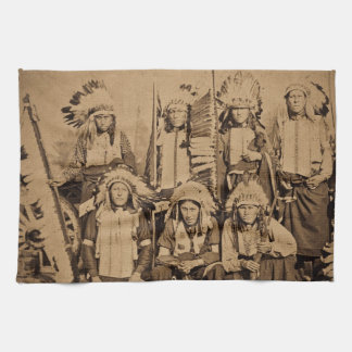 1895 Buffalo Bill Wild West Show Sioux Chiefs Tea Towel