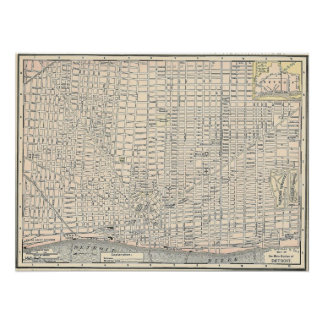 1895 Map of Detroit Poster