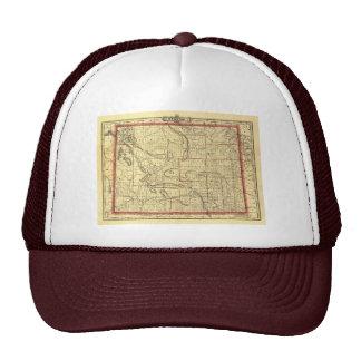 1895 Wyoming Map Hat