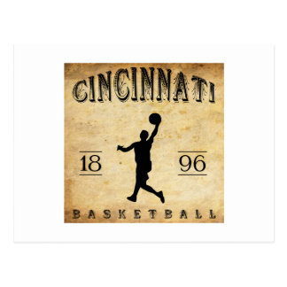 1896 Cincinnati Ohio Basketball Postcard