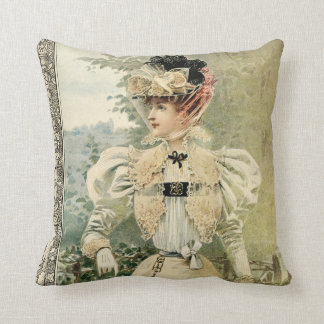 1896 La Nouvelle Mode Throw Pillow