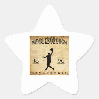 1896 Middleborough Massachusetts Basketball Star Sticker