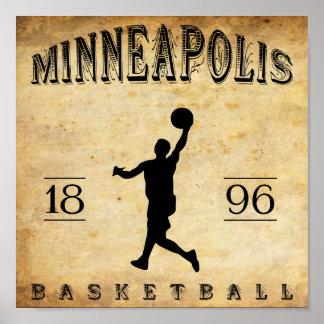 1896 Minneapolis Minnesota Basketball Posters