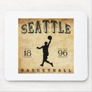 1896 Seattle Washington Basketball Mouse Pads