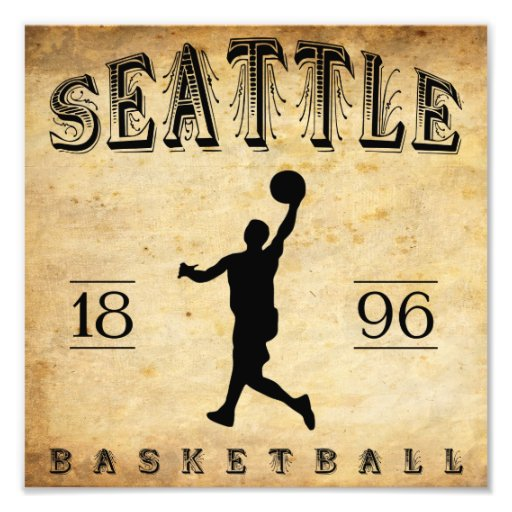 1896 Seattle Washington Basketball Photo Art