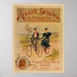 1896 Vintage Colour Monarch Bicycles Ad Art Poster