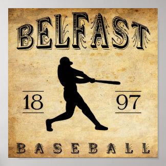 1897 Belfast Maine Baseball Poster