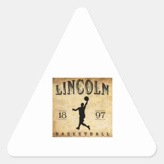 1897 Lincoln Nebraska Basketball Sticker