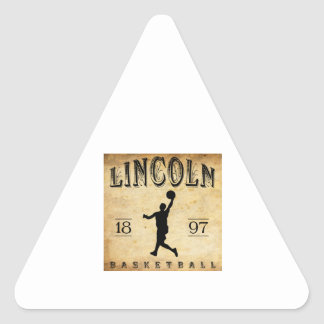 1897 Lincoln Nebraska Basketball Triangle Sticker