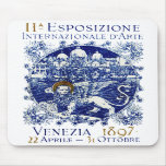 1897 Venice Art Poster Mouse Pads