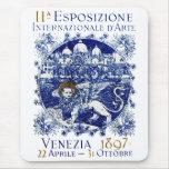 1897 Venice Art Poster Mouse Pads