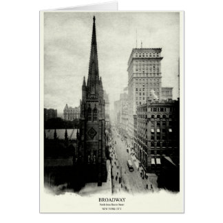 1898 Broadway New York City Greeting Card