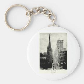 1898 Broadway New York City Key Chains