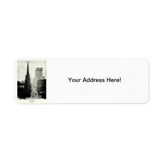 1898 Broadway New York City Return Address Label