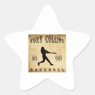 1898 Fort Collins Colorado Baseball Star Stickers