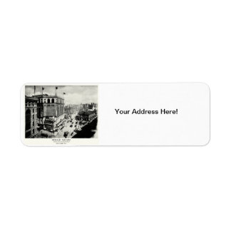 1898 Herald Square New York City Return Address Label