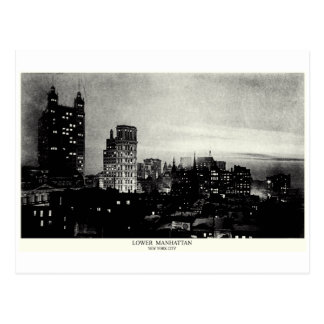 1898 Lower Manhattan at dusk Post Card